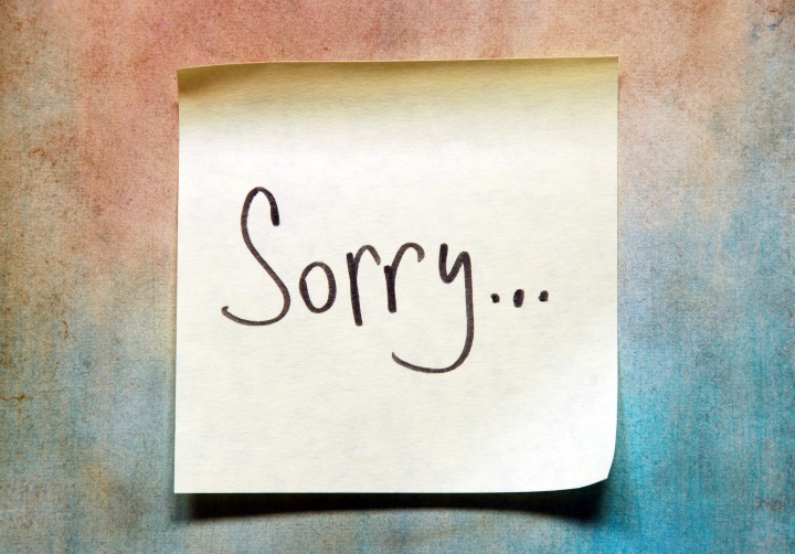sorry note