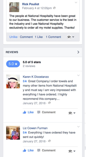 Facebook Reviews For National Hospitality